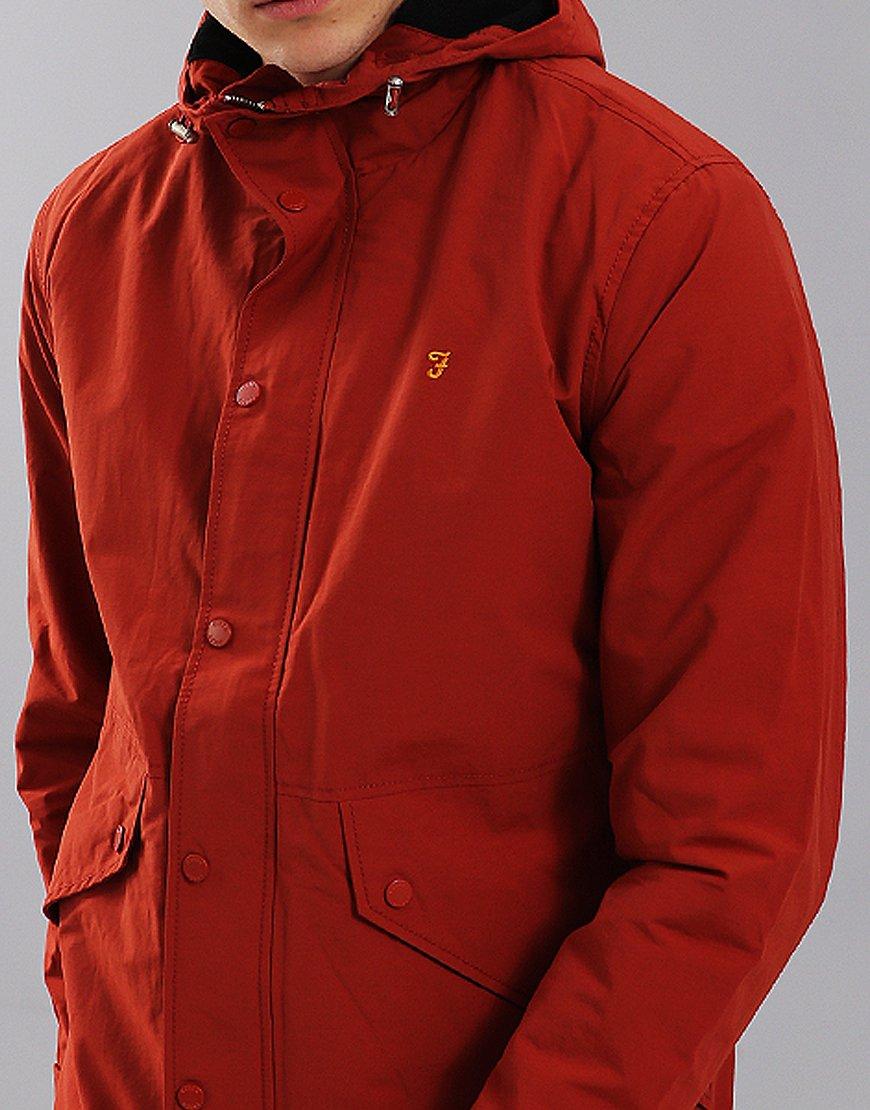 Farah Brodie Jacket Rust