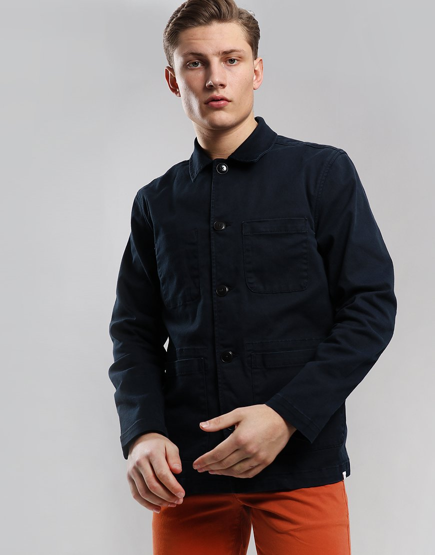 Farah x Northern Lights Cassidy Overshirt True Navy