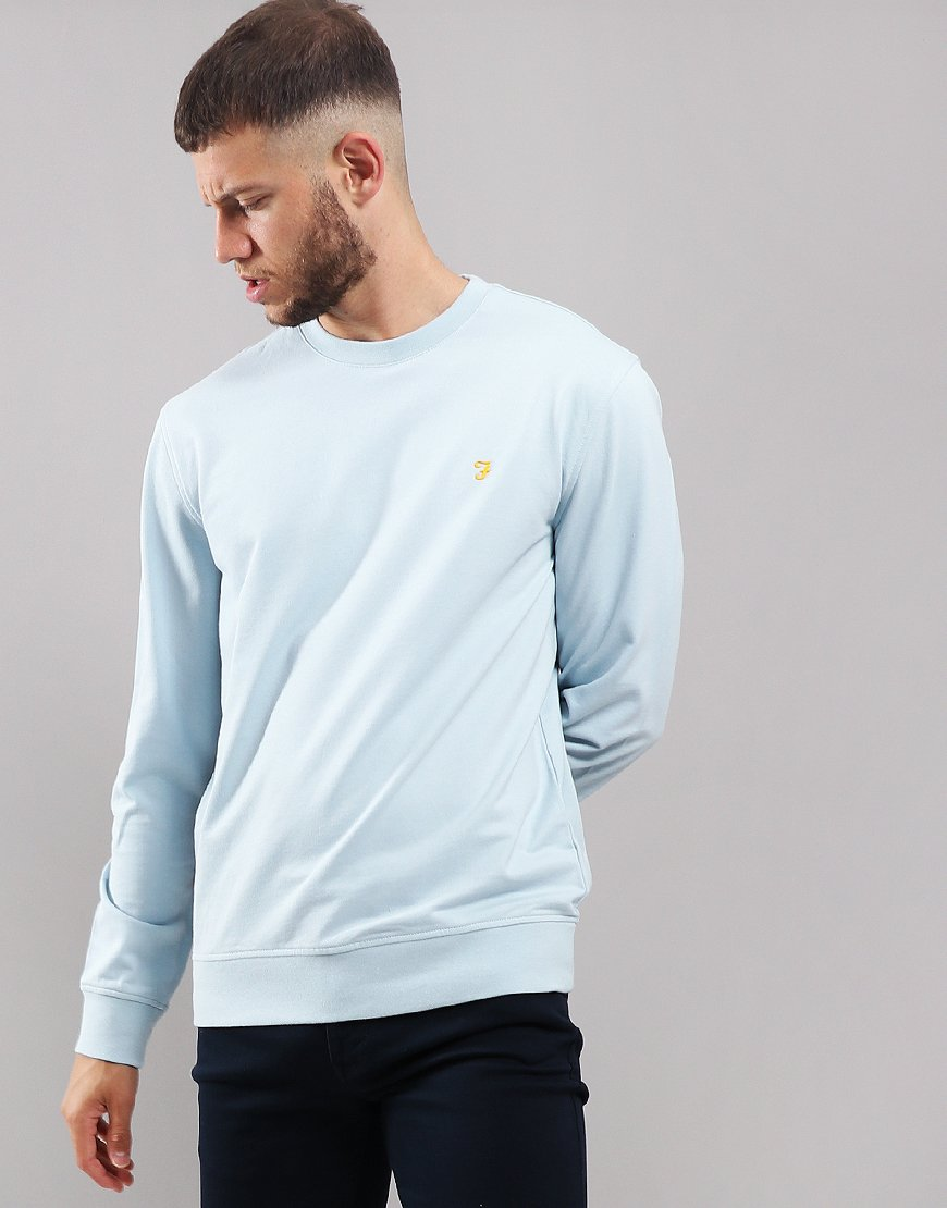Farah Cheadle Crew Neck Sweat Morning Sky