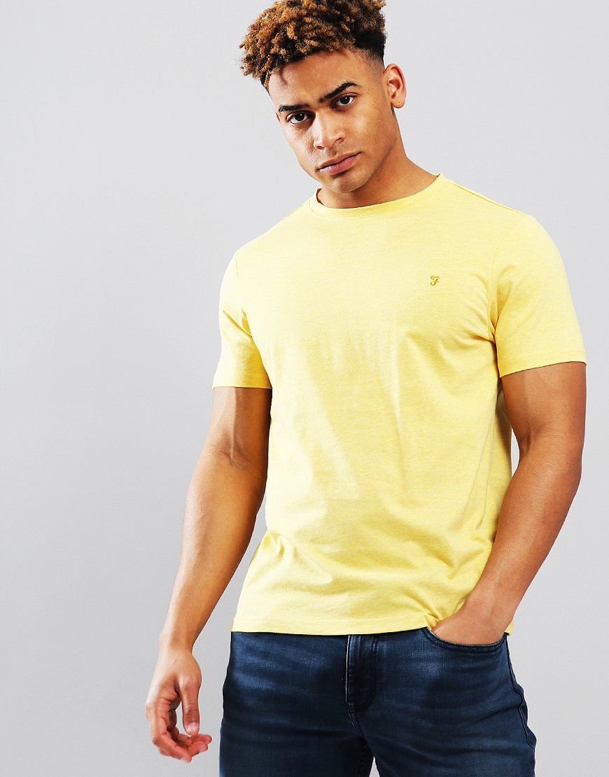Farah Denny Marl T-Shirt Smiley Yellow Marl