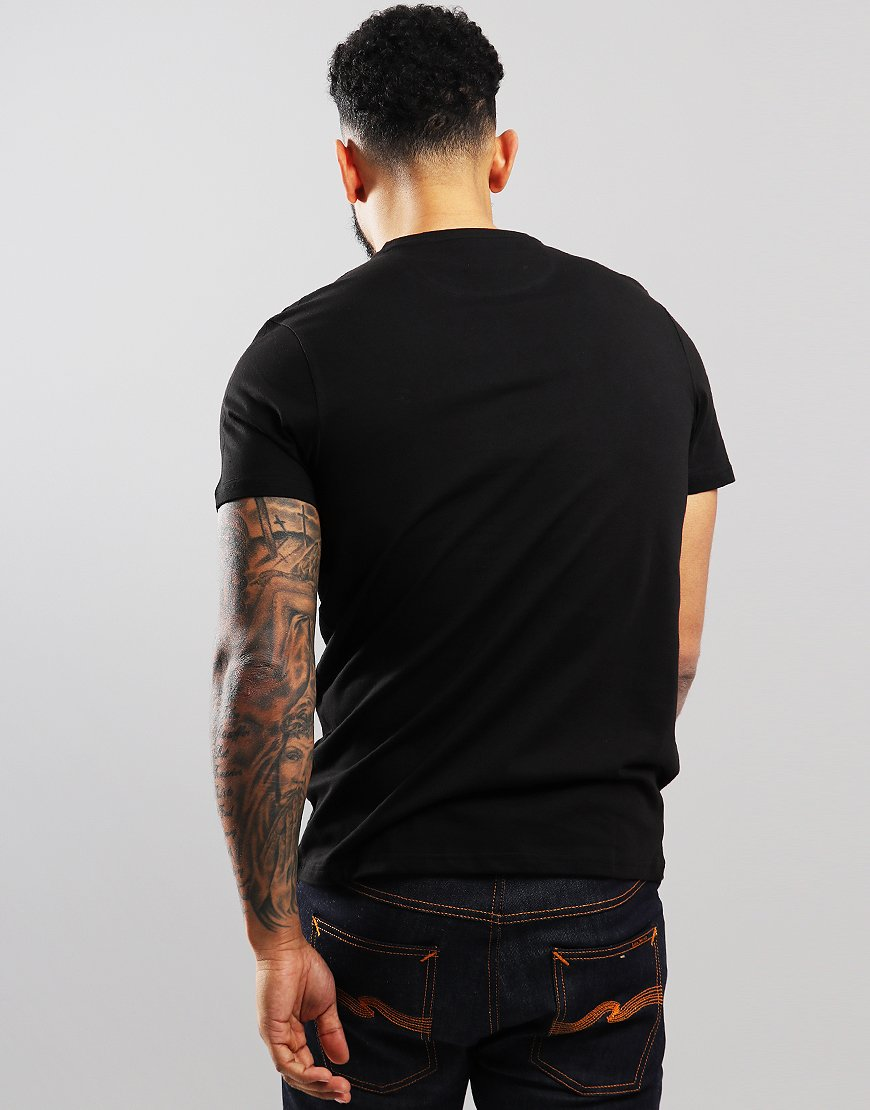 d109df8bb7 Farah Denny Slim Fit T-Shirt Black - Terraces Menswear