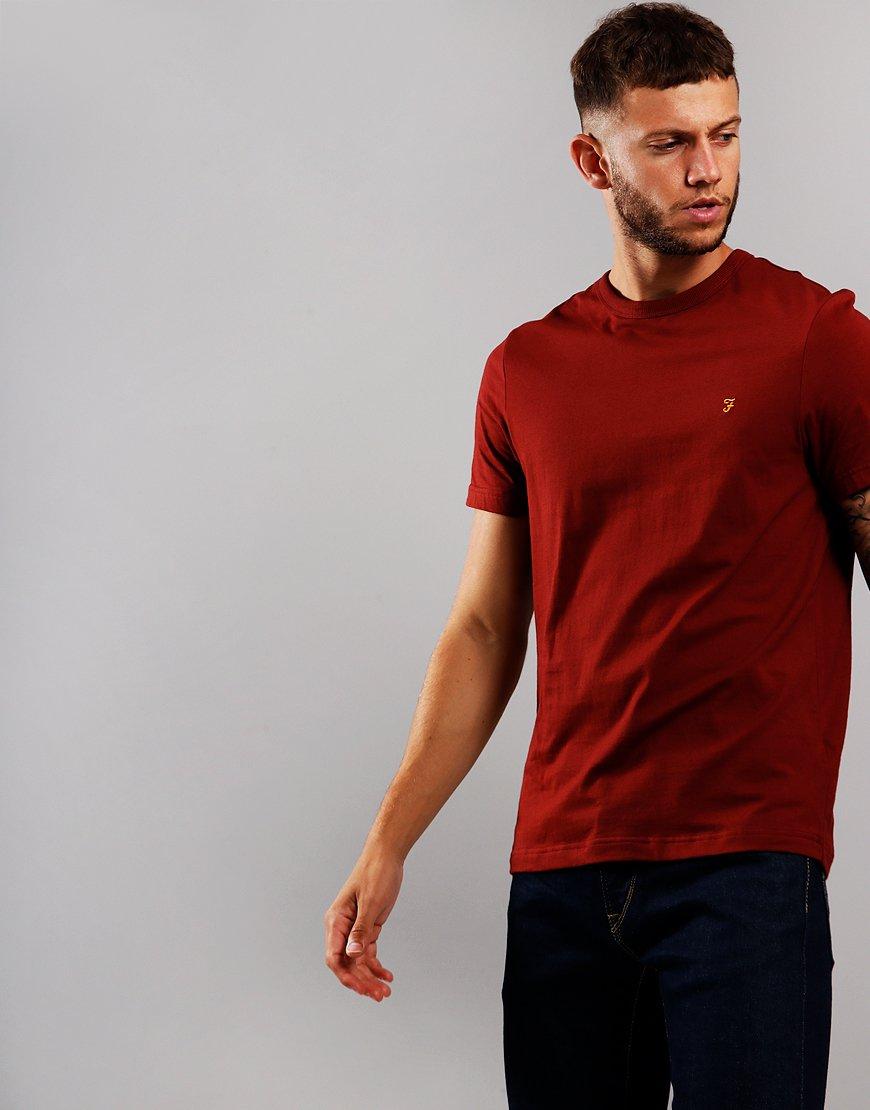 Farah Dennis T-Shirt  Burnt Red