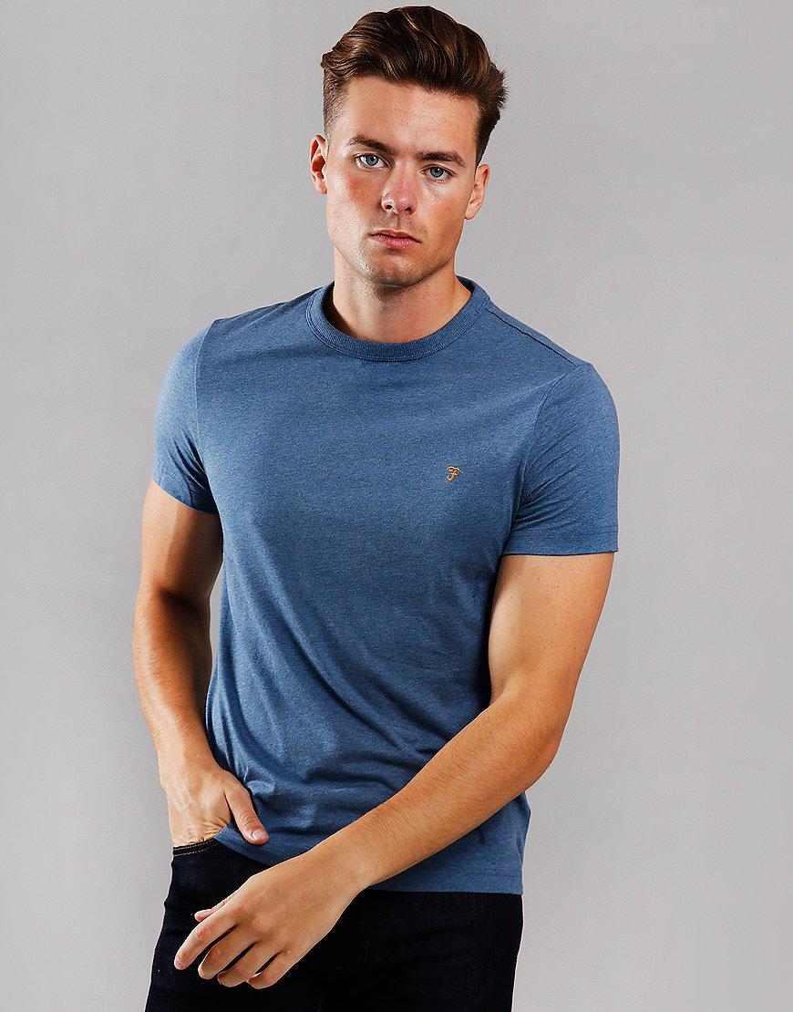 Farah Dennis T-Shirt Dark Denim Marl