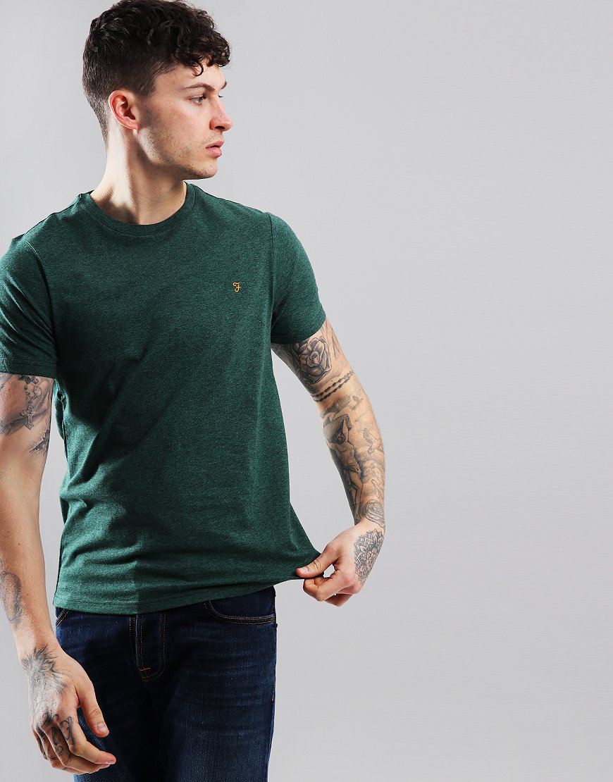Farah Denny Marl T-Shirt Green Lawn Marl
