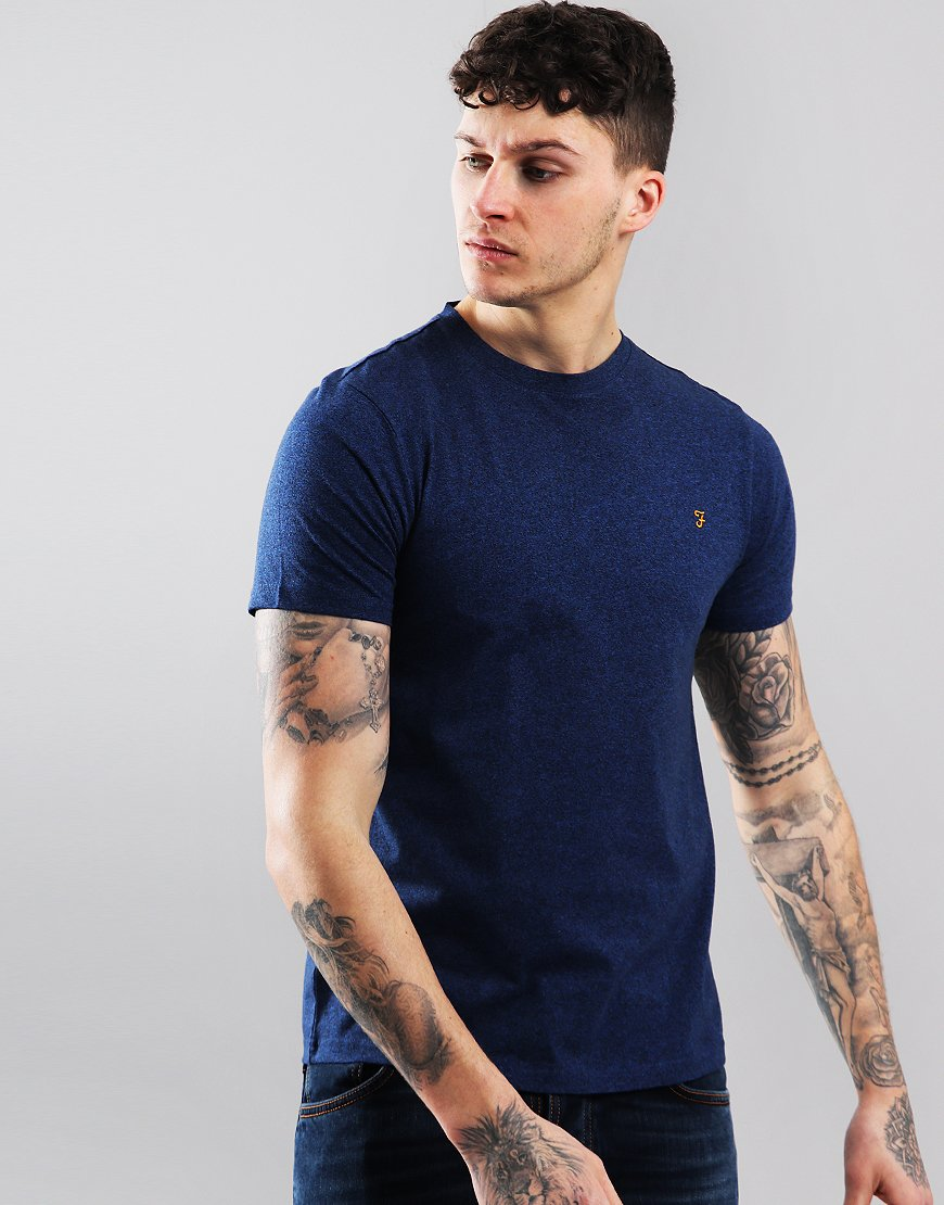 Farah Denny Marl T-Shirt Neon Blue Marl
