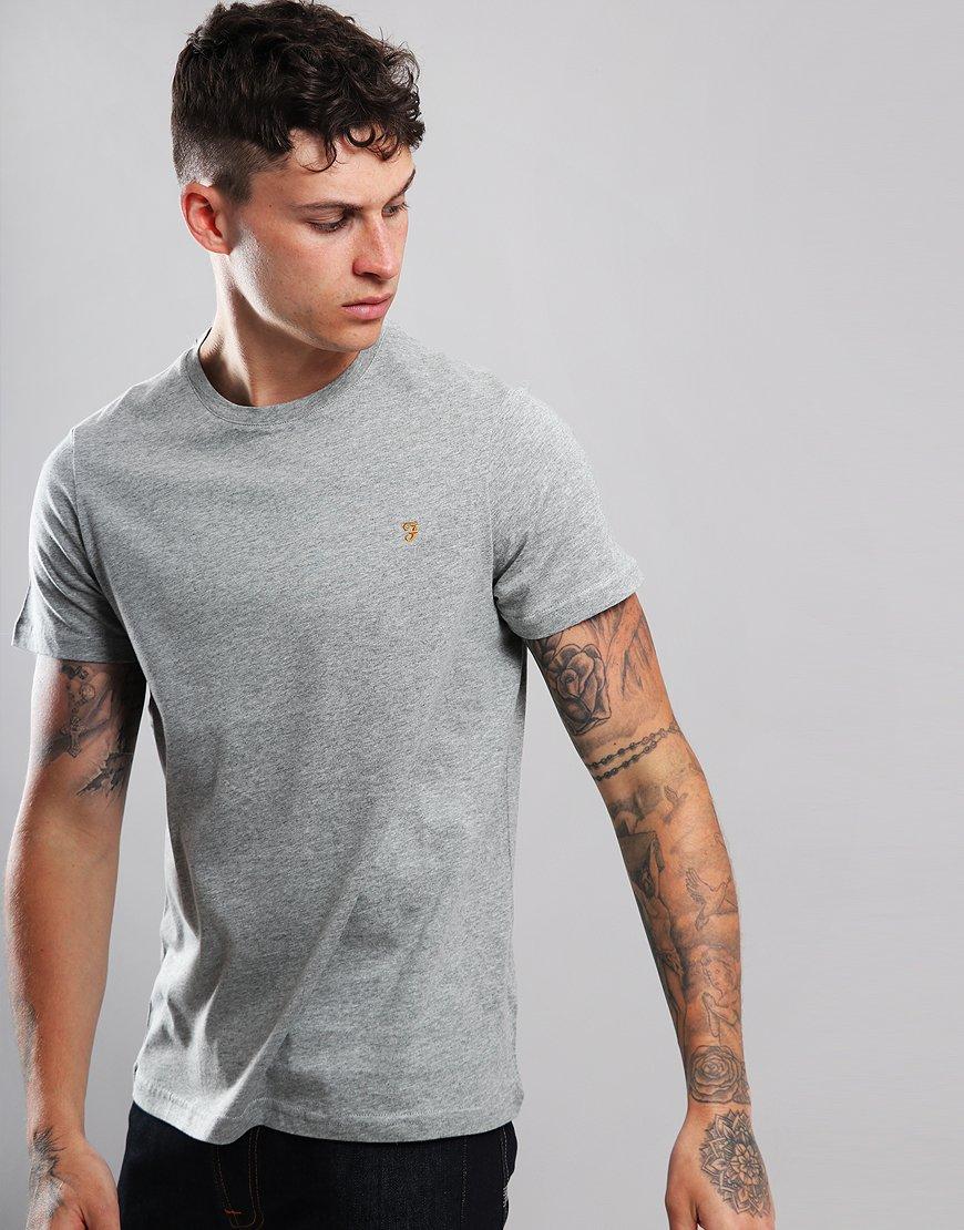 8a6c1b38aa92 Farah Denny Slim Fit T-Shirt Rust Marl - Terraces Menswear