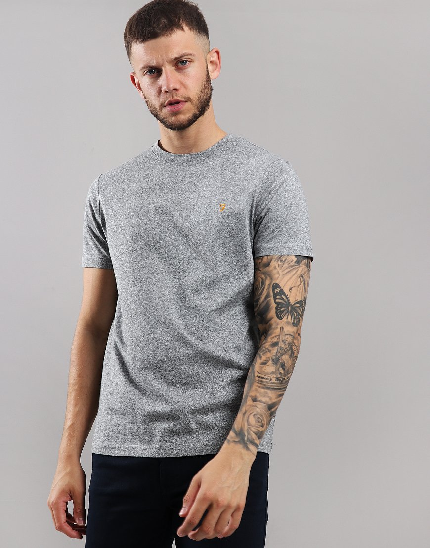 Farah Denny Marl T-Shirt Gravel Marl