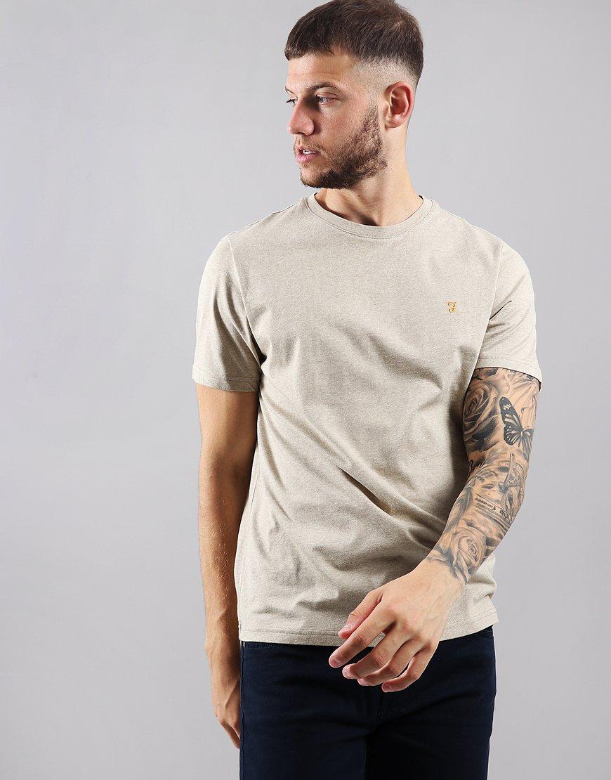 Farah Denny Marl T-Shirt Light Sand Marl