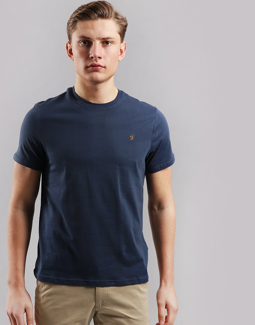Farah Denny Slim Fit T-Shirt Navy