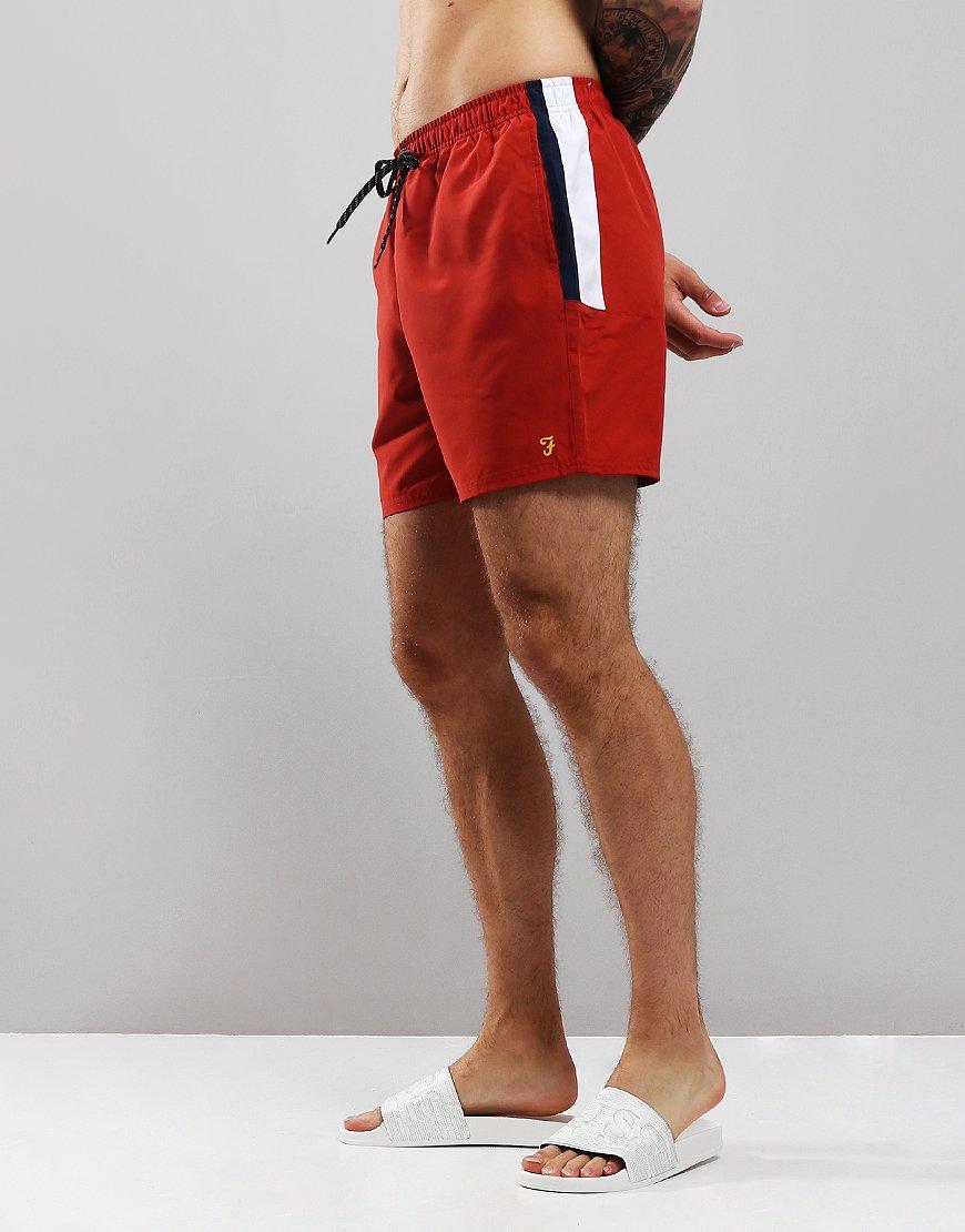 Farah Docherty Swim Shorts Red Ochre