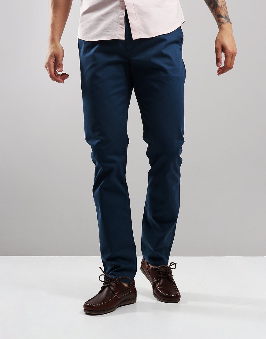 Farah Elm Twill Chinos Blue Star