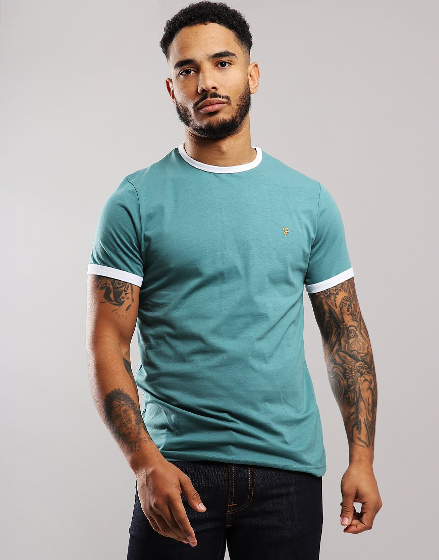 Farah Groves T-shirt Green Biscuit