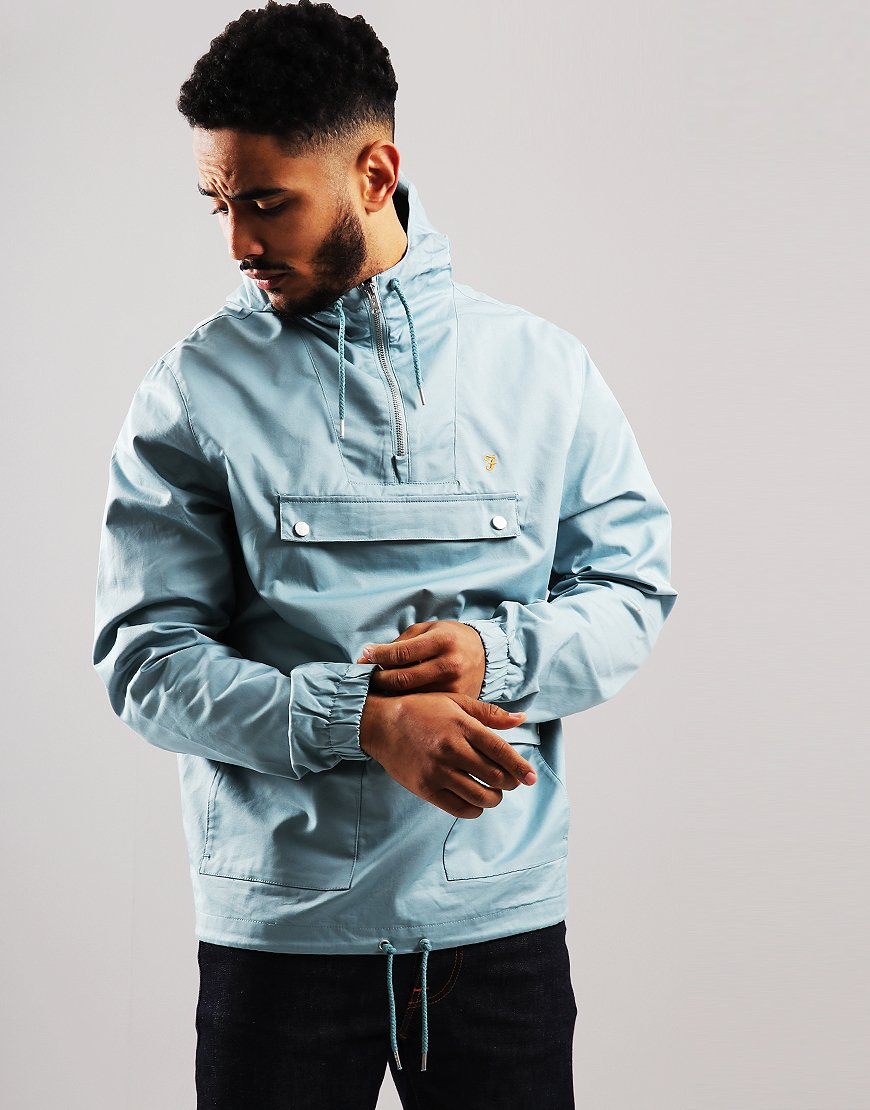 Farah Hartnoll Jacket Turquoise - Terraces Menswear 010a3d5c7eeb