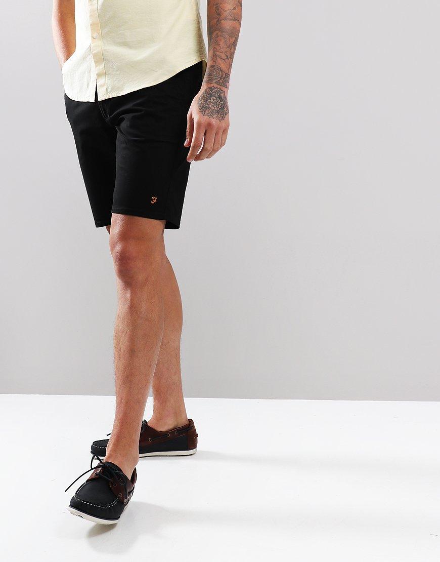 Farah Hawk Chino Twill Shorts Black