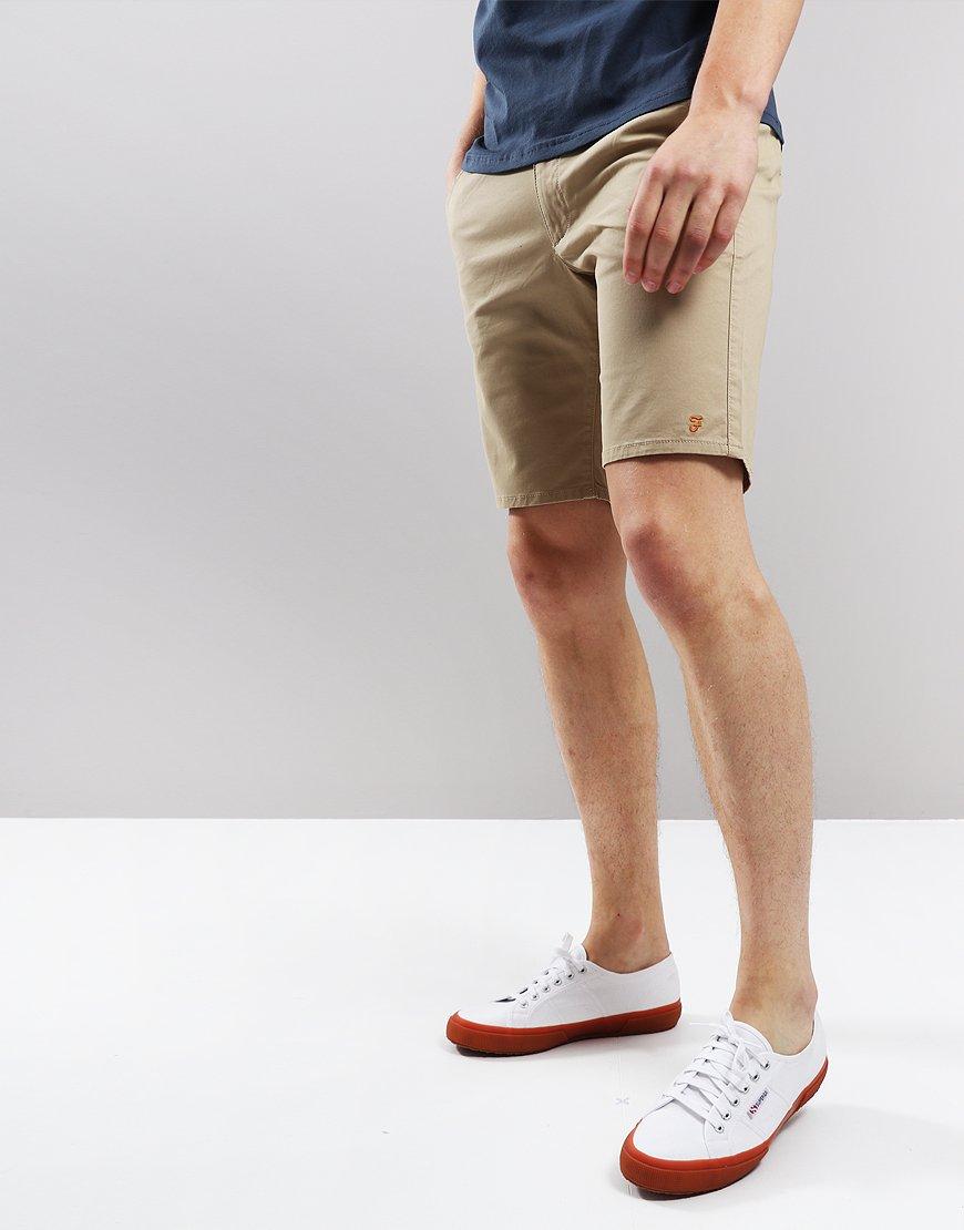 Farah Hawk Chino Shorts Light Sand