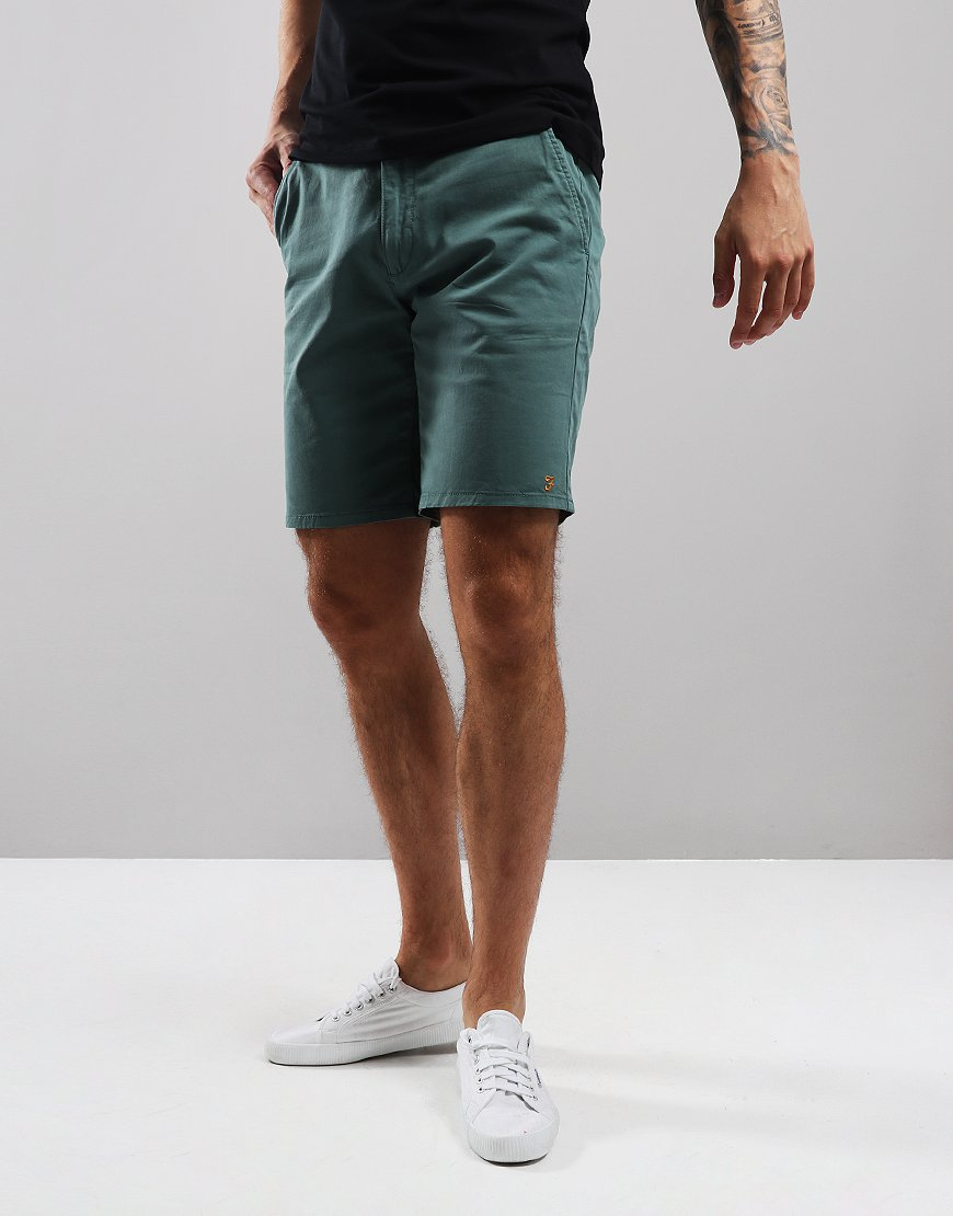 Farah Hawk Chino Shorts Green Biscuit
