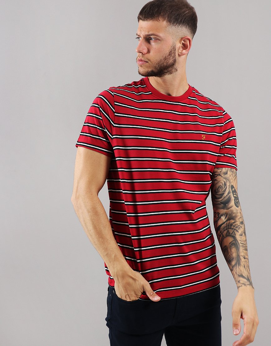 Farah House Slim Fit T-Shirt Fire Brick