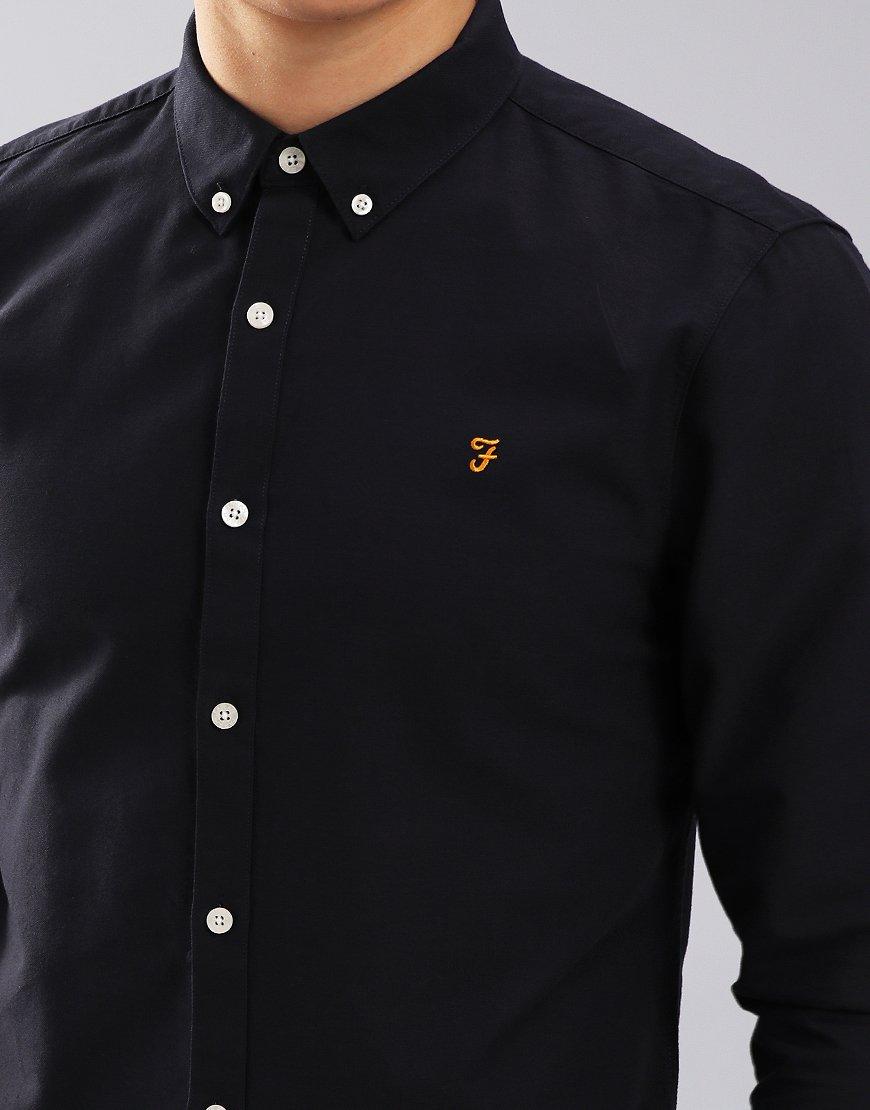 1c394832 Farah Brewer Long Sleeve Slim Fit Shirt Navy