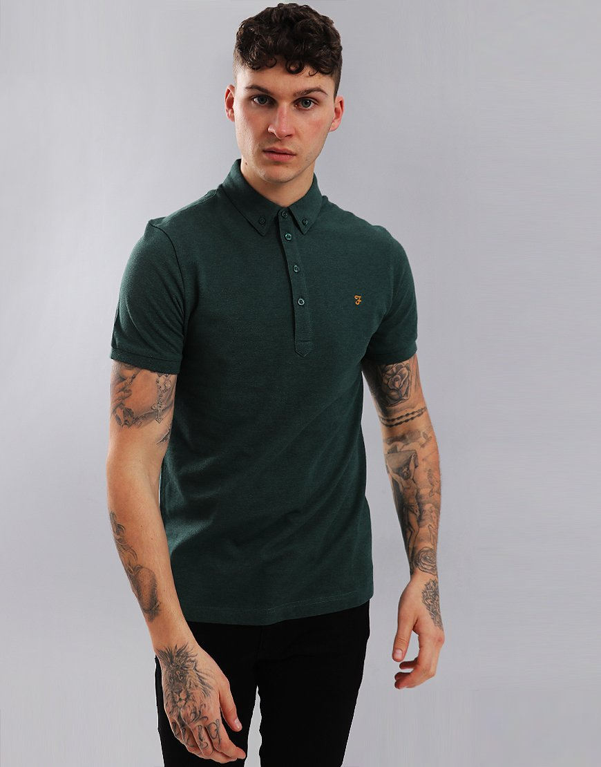 Farah Merriweather Polo Shirt Gillespie Green