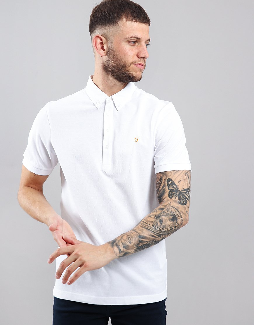 Farah Merriweather Polo Shirt White