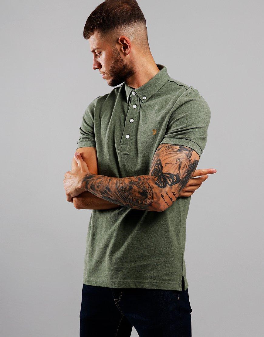 Farah Ricky Polo Shirt Winter Balsam Marl