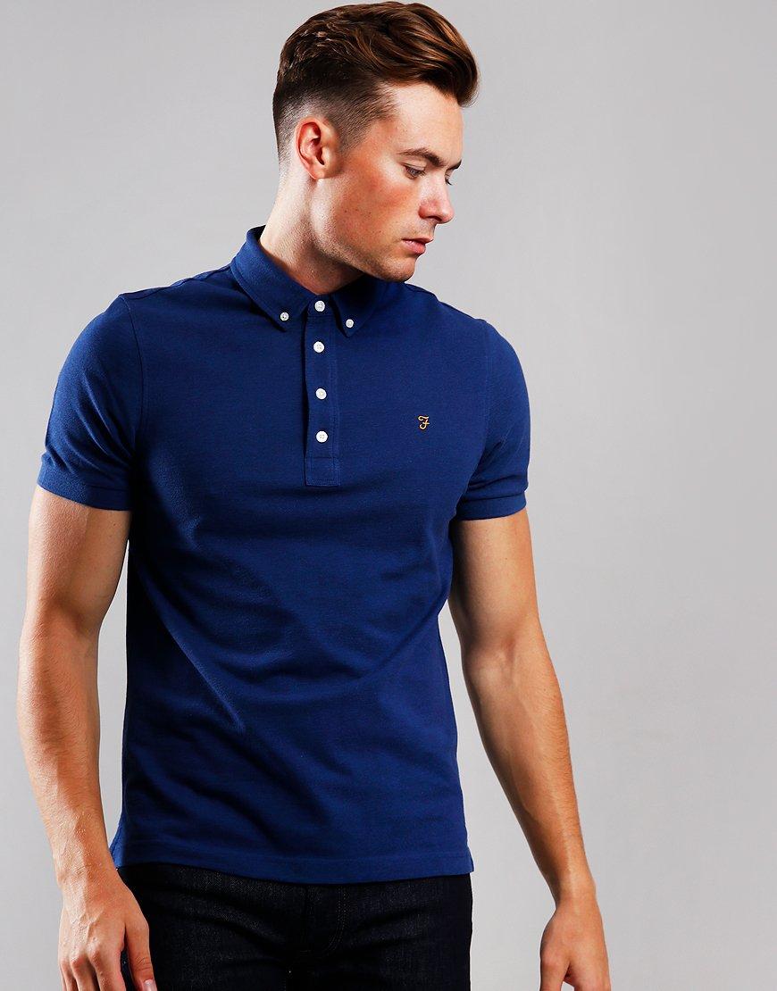Farah Ricky Polo Shirt Blue Peony Marl