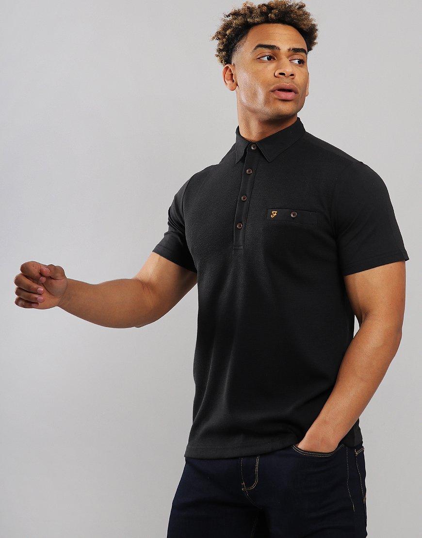 Farah Lester Polo Shirt Black