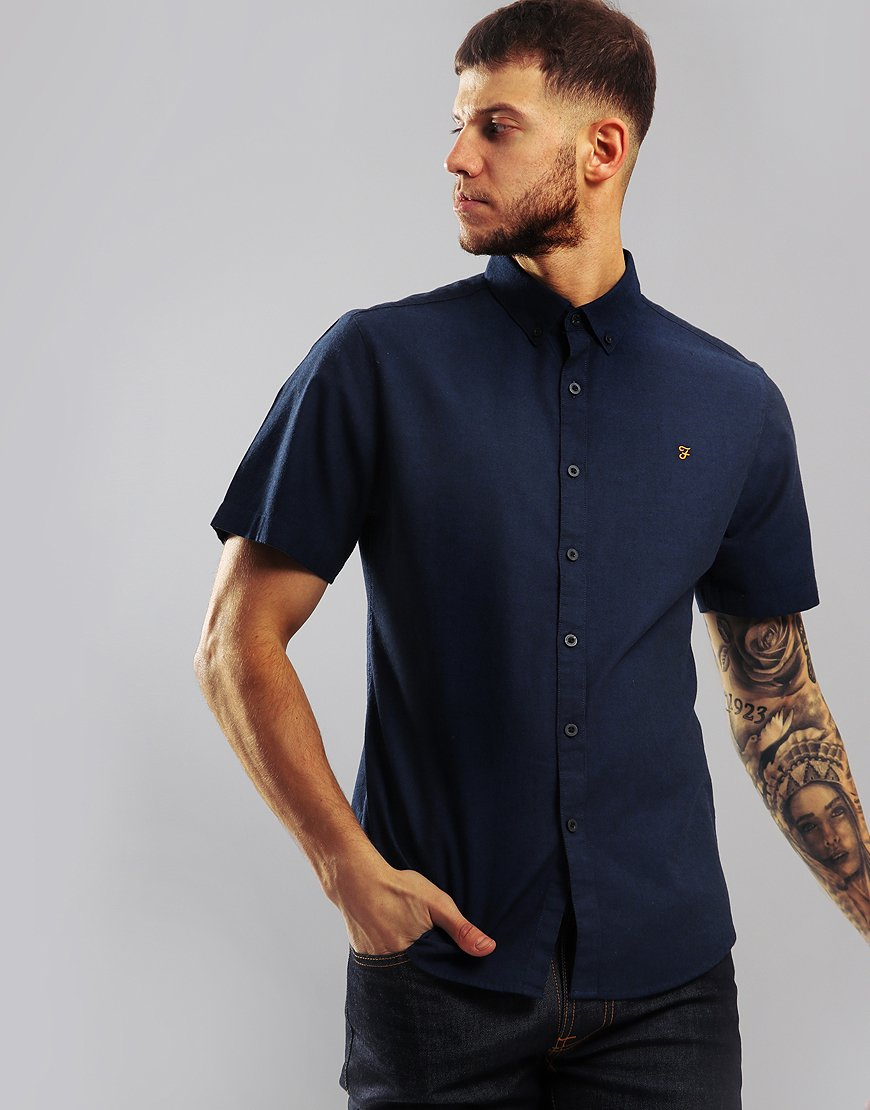 Farah Steen Short Sleeve Shirt True Blue