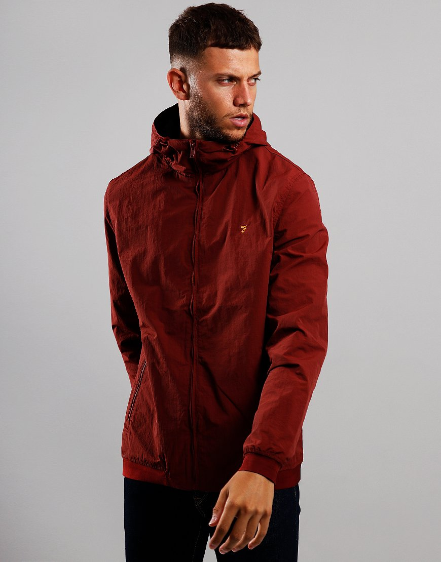 Farah Stones Jacket Burnt Red
