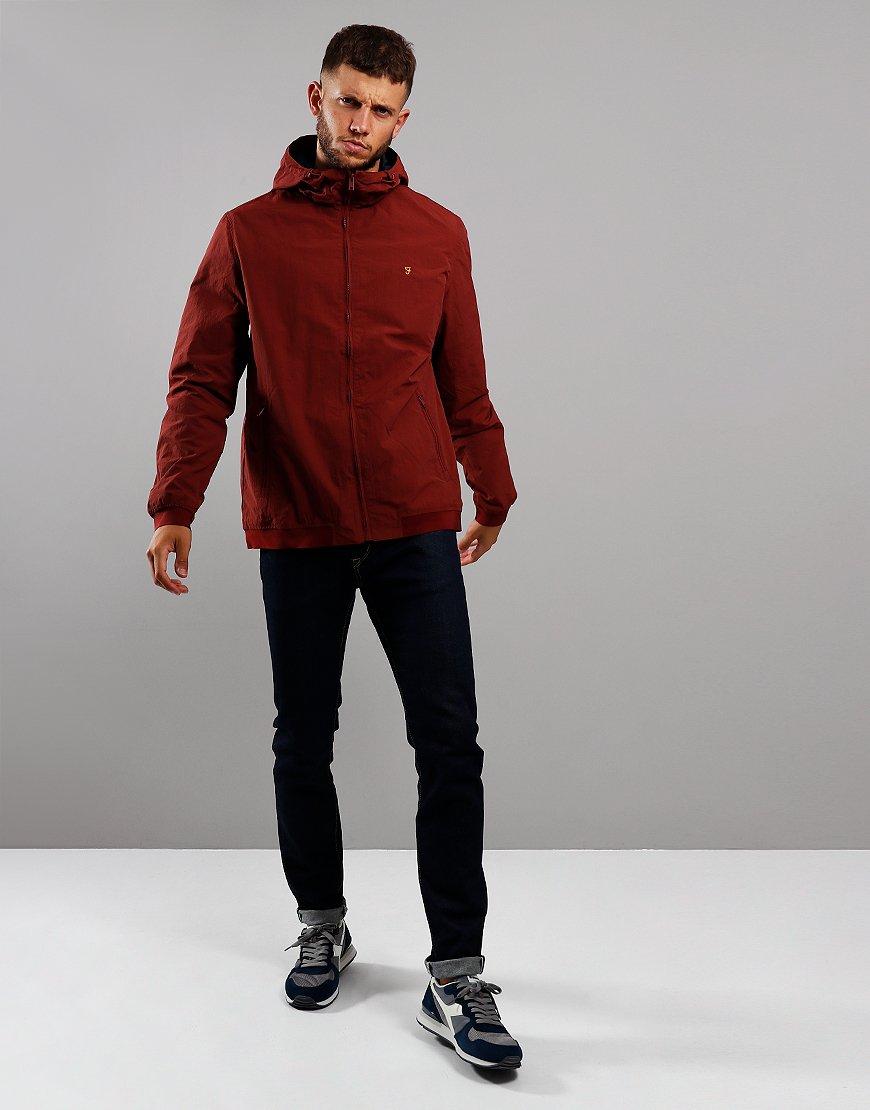 Farah Stones Jacket Burnt Red