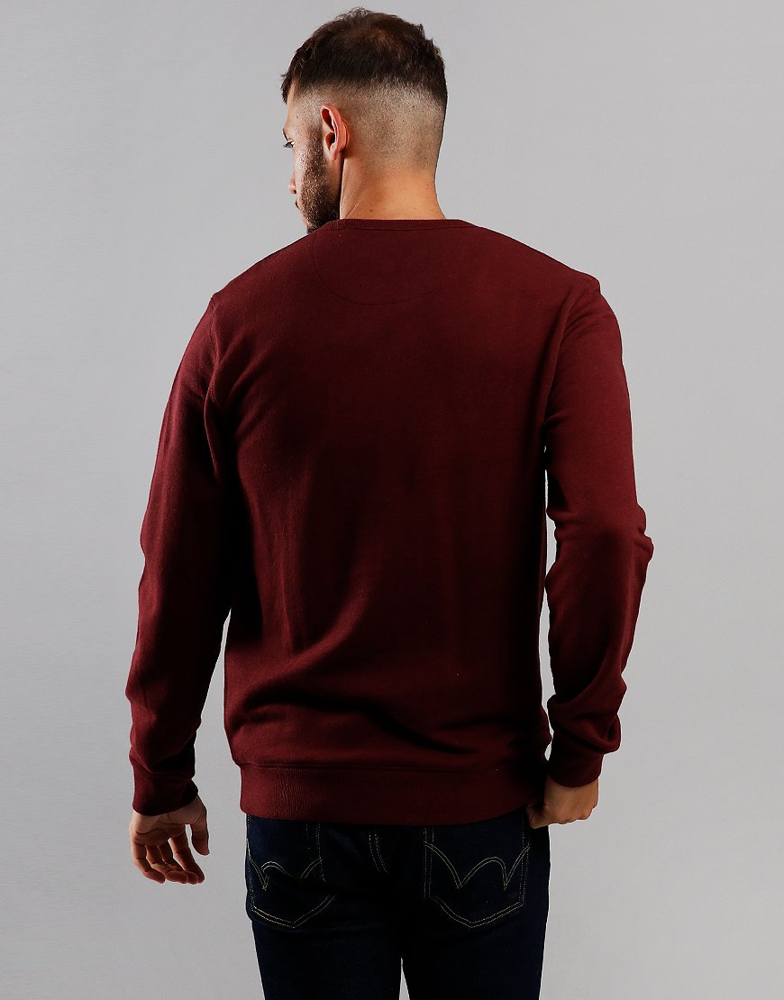 Farah Tim Crew Sweat Farah Red Marl