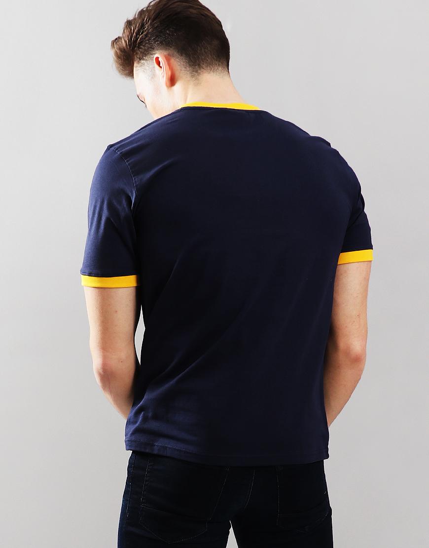 64a71bdcf634 Fila Vintage Marconi T-Shirt Peacoat Gold - Terraces Menswear