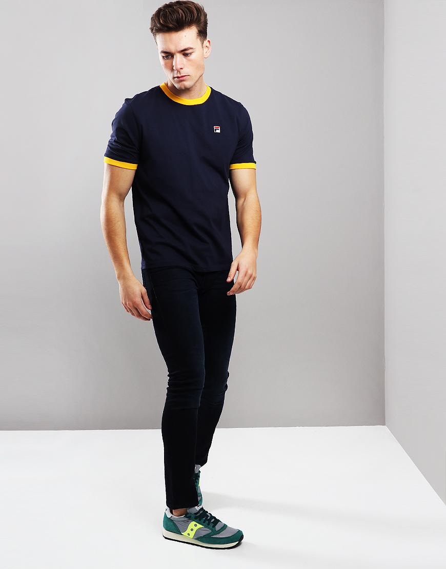 774a3ba0f Fila Vintage Marconi T-Shirt Peacoat/Gold - Terraces Menswear