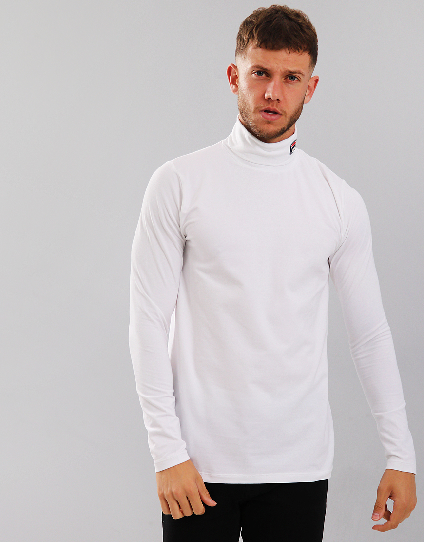 Fila Vintage 19th Classic Roll Neck Sweat White