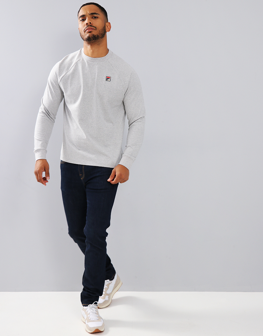 Fila Vintage Felice 2 Long Sleeve T-Shirt Light Grey