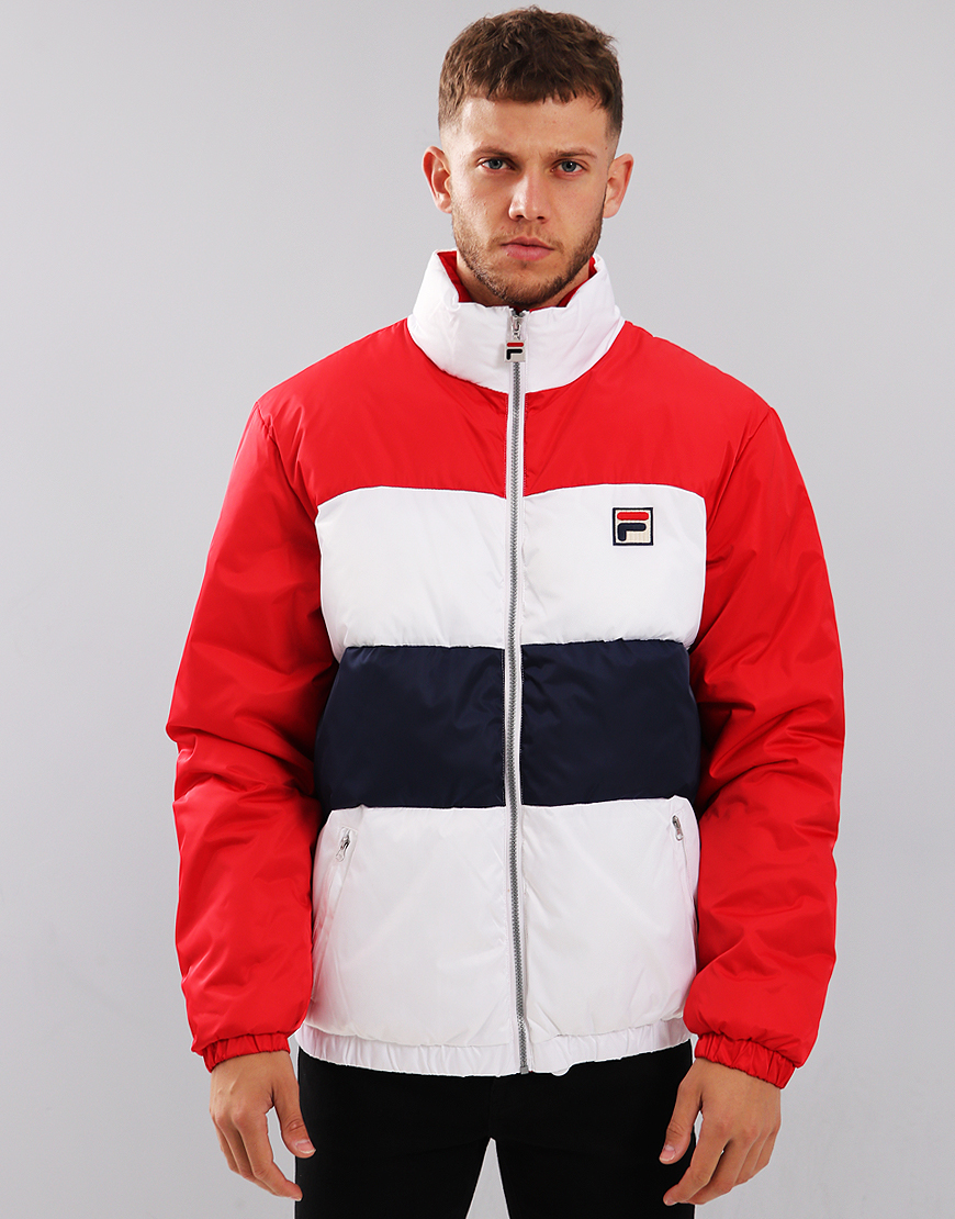Fila Vintage Neo Puffa Jacket Chinese Red