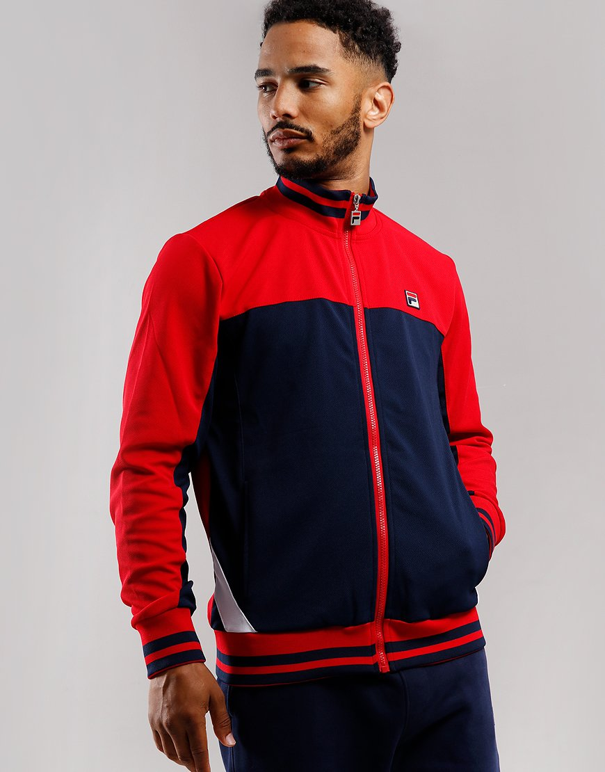 Fila Vintage Tiebreaker Tracktop Chinese Red/Peacoat/White
