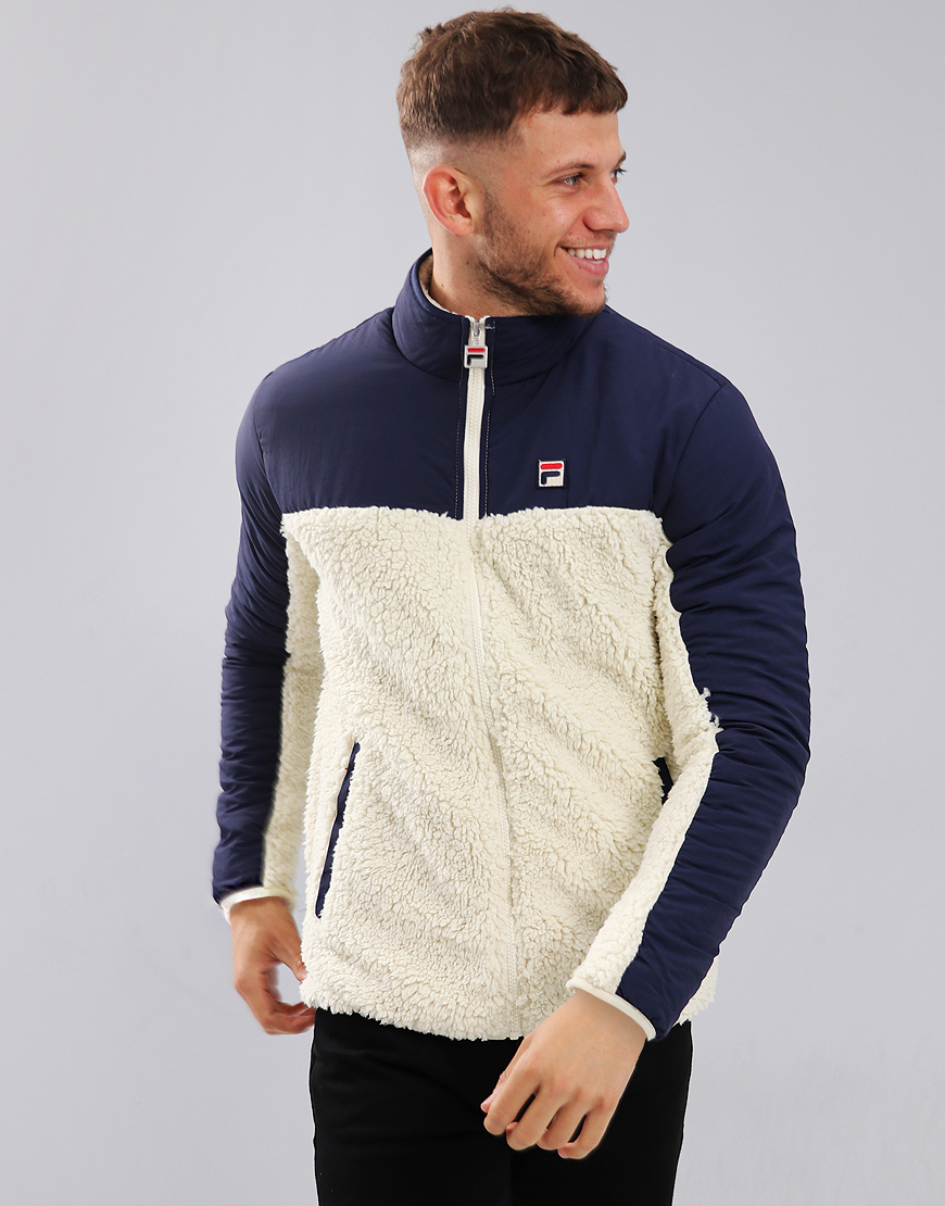 Fila Vintage Tonetto 2 Fleece Jacket Oyster White