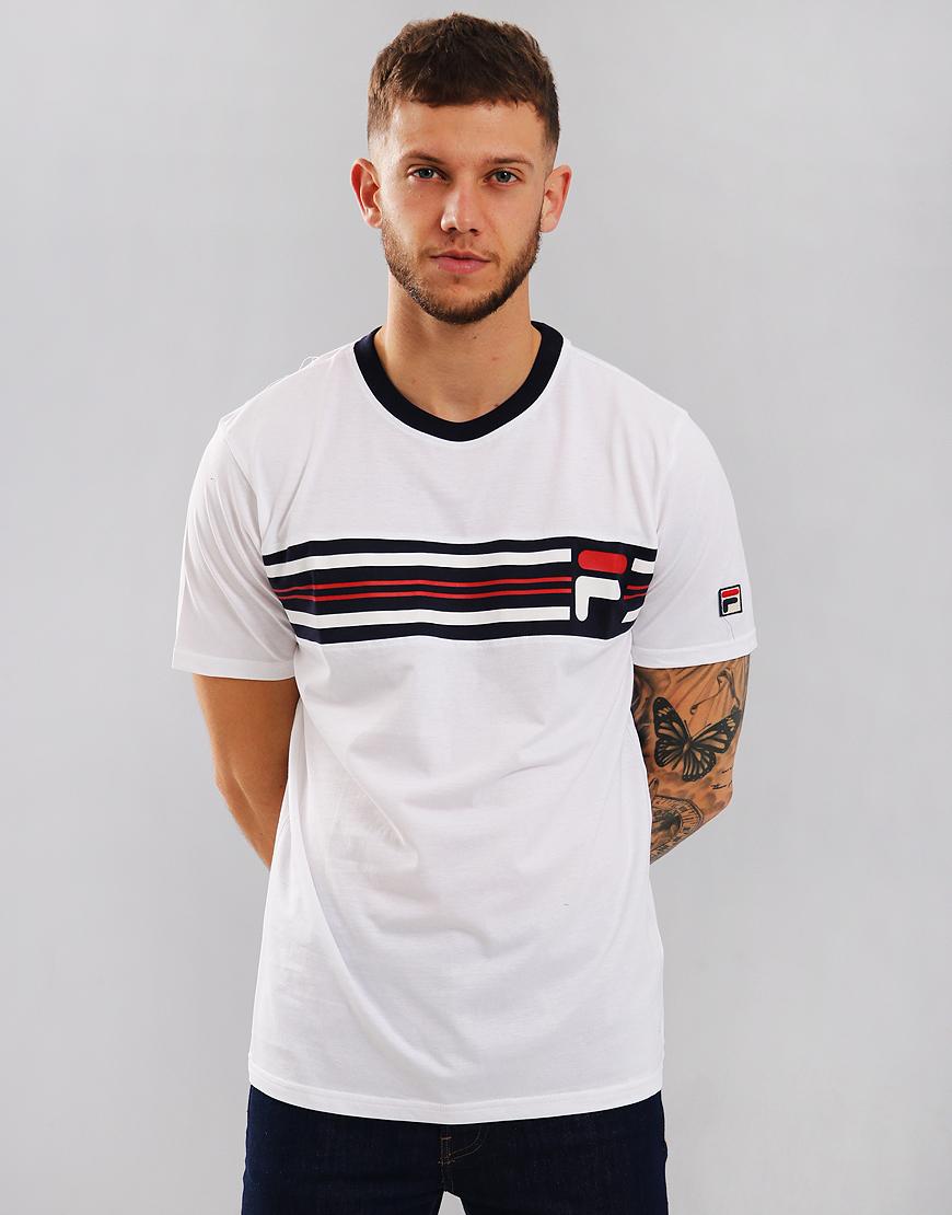 Fila Vintage Bruno 3 T-Shirt White