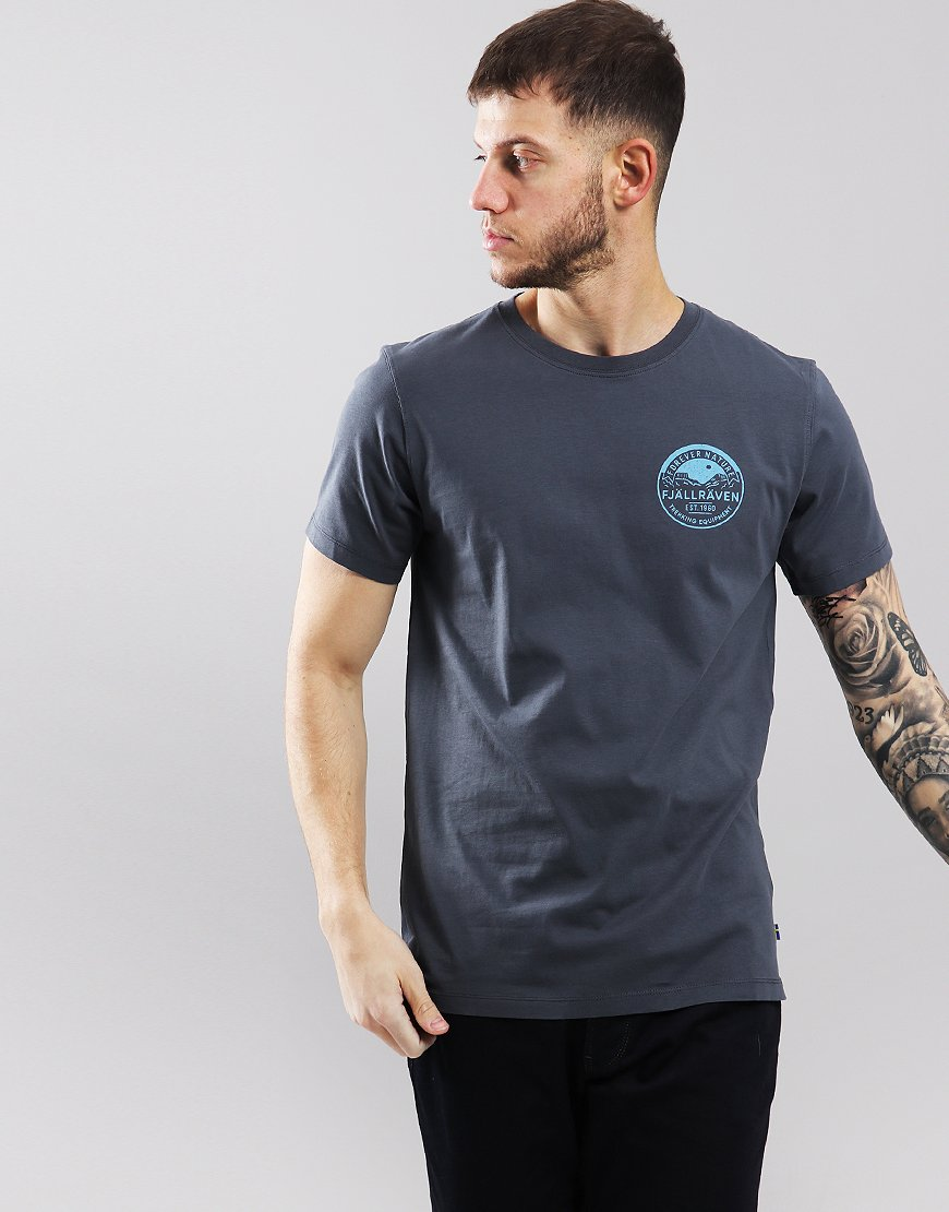 Fjällräven Badge  T-shirt Navy