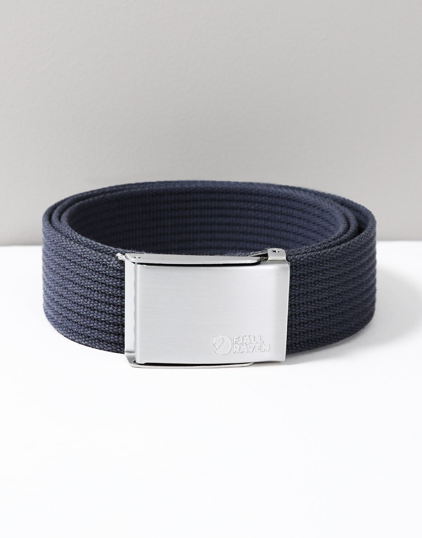 Fjällräven Woven Canvas Belt Dark Navy
