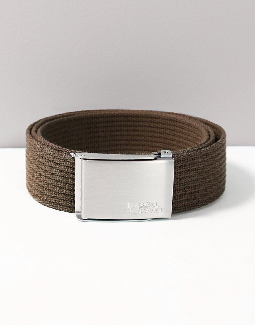 Fjällräven Woven Canvas Belt Dark Olive