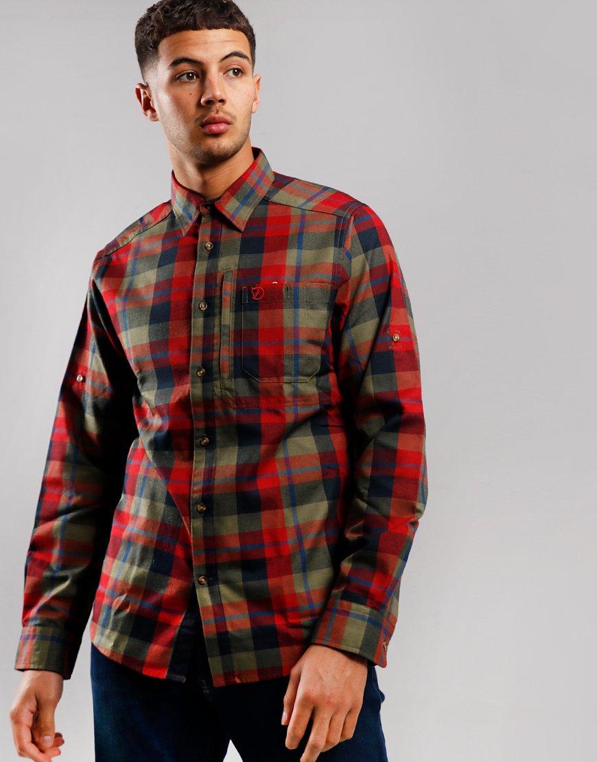 Fjällräven Fjällglim Long Sleeve Shirt Deep Red