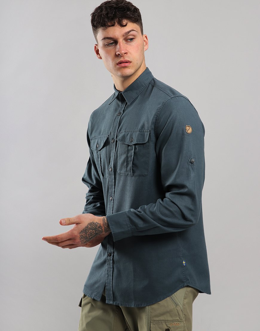 Fjällräven Long Sleeve Övik Travel Shirt Dusk