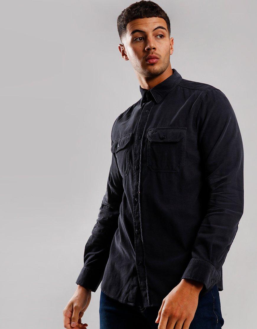 Fjällräven Övik Cord Long Sleeve Shirt Dark Navy