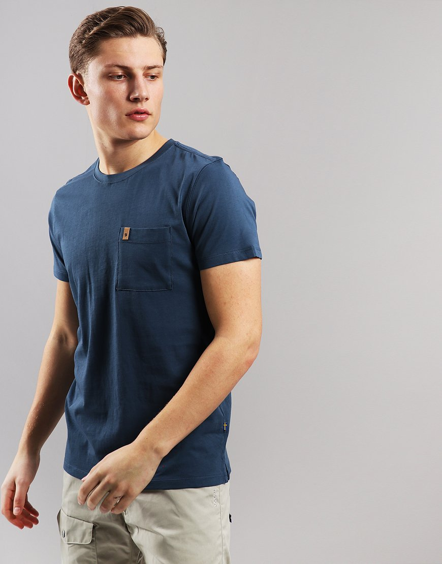 Fjällräven Ovik Pocket T-Shirt Uncle Blue