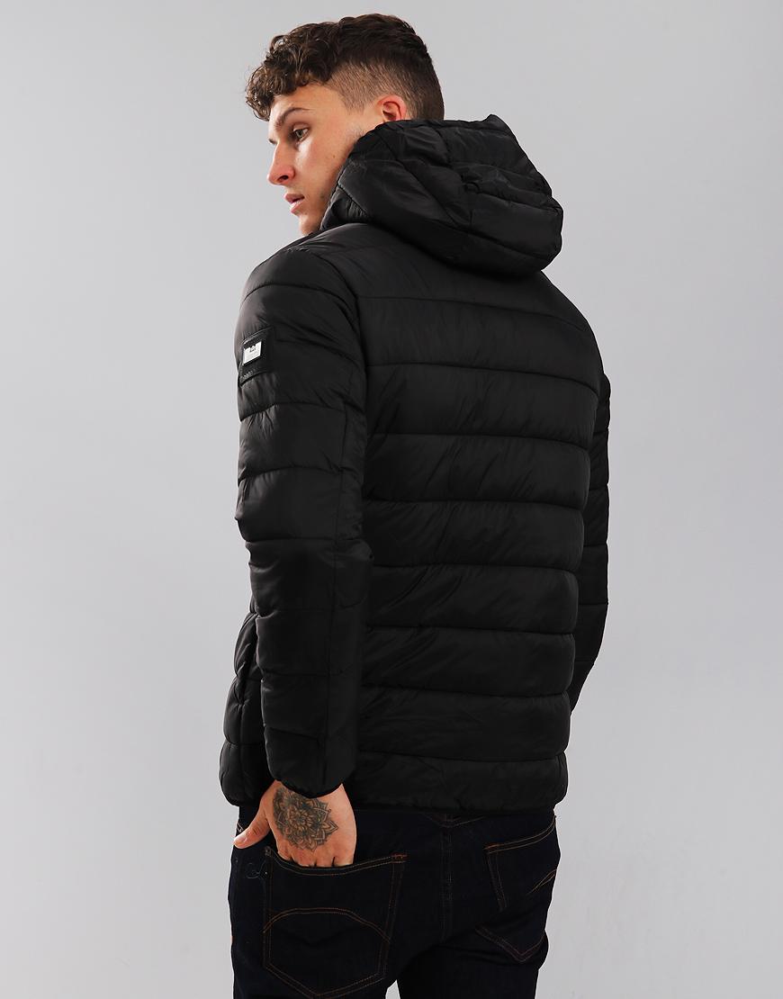 04a8df2da907 Weekend Offender Frazier Quilted Jacket Black - Terraces Menswear