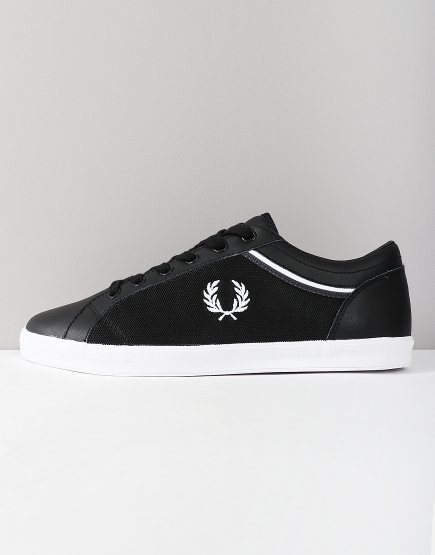 Fred Perry Baseline Tipped Trainers Black
