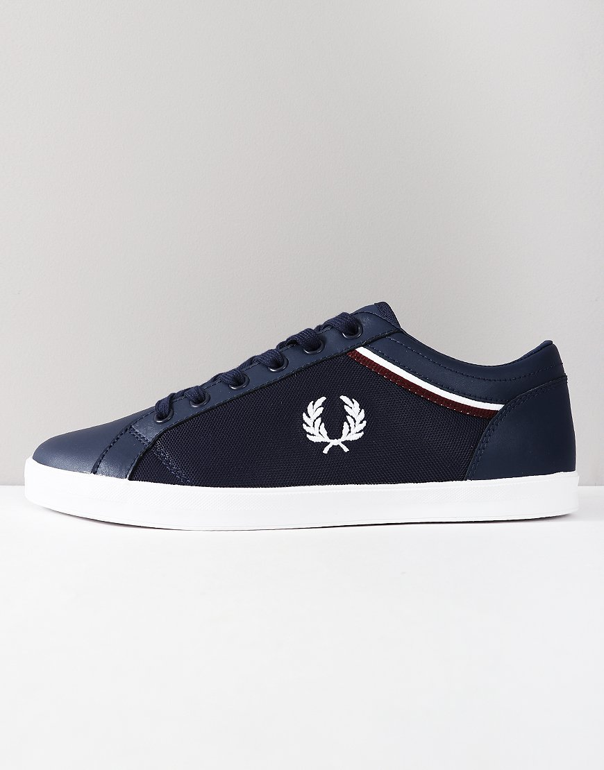 Fred Perry Baseline Tipped Trainers Carbon Blue