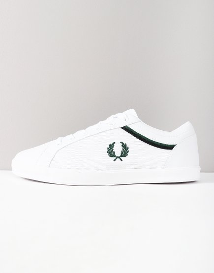 Fred Perry Baseline Tipped Trainers White